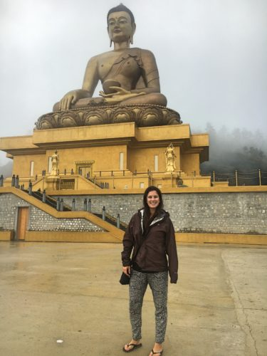 Me with an enormous buddha statue