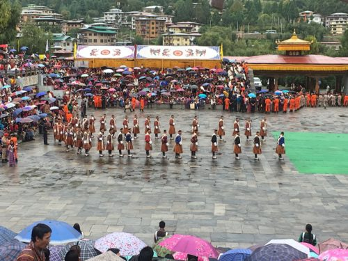 the festival in Thimphu