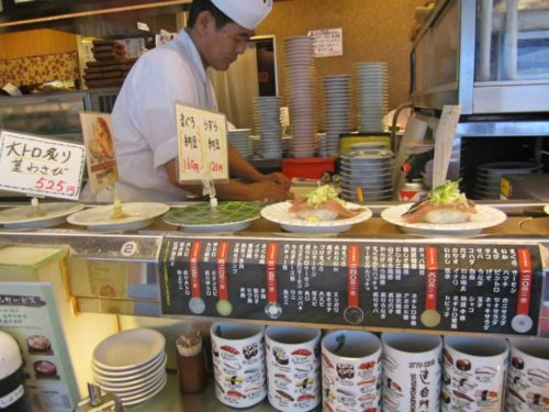 The sushi conveyer belt