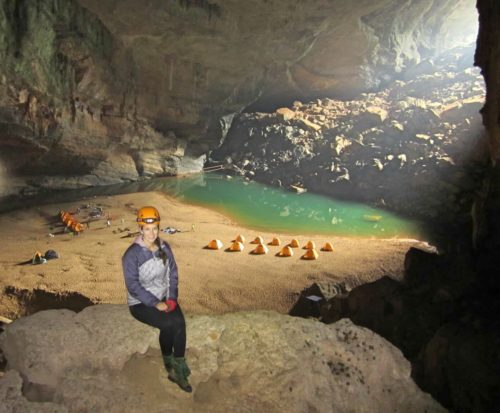 photo in the cave