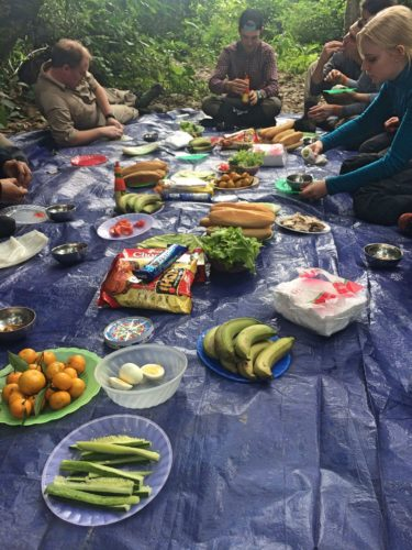 lunch on cave trek