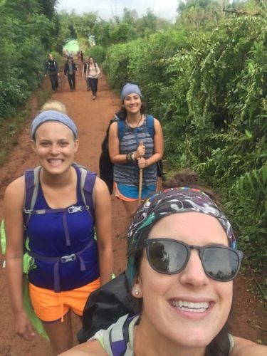 smiling selfie on Inle Lake trek