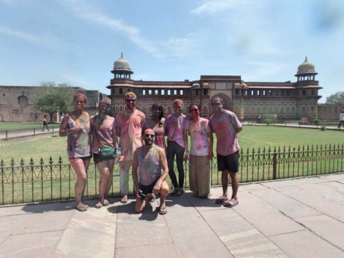 Agra Fort during Holi