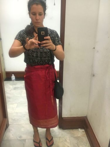 The skirt I rented at the Grand Palace in Thailand