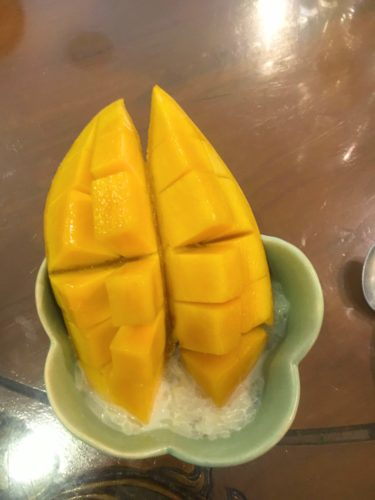 Mango Sticky Rice from my cooking class