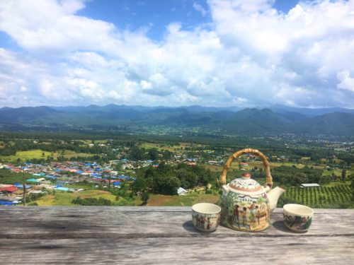 Tea with a view in Pai-one of the best destinations in Thailand