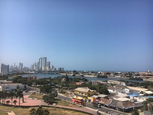 View from the castle in Cartagena