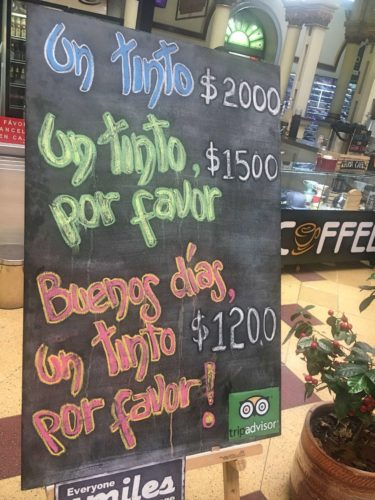 Be polite-a sign that gives discounts for politeness in Medellin