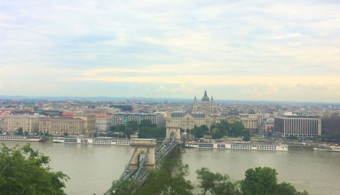 View of Budapest across the Danube on the free walking tour in Budapest