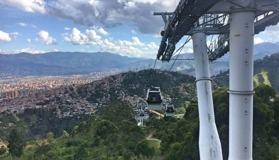 The metrocable in medellin