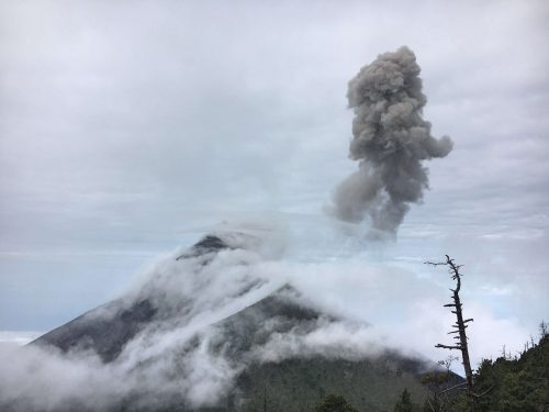 Last shot of Fuego Volcano